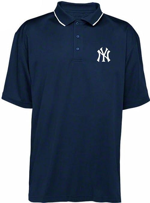 New York Yankees MLB para hombre Majestic húmedo gestión sintético polo camisa azul marino Big & Tall tamaños