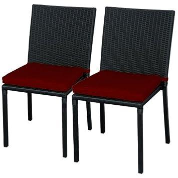 Silla de PE Rattan y Aluminio para muebles exterior jardín: Amazon ...