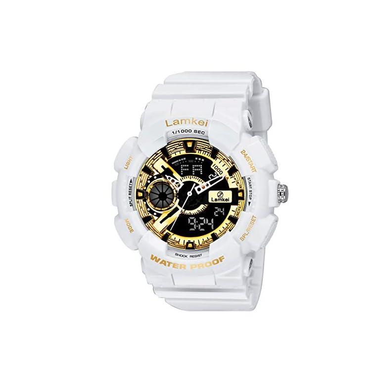 51okYE6o4lL. SS768  - Lamkei Analogue - Digital Black Dial Men's Watch