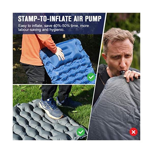 51okYT2pRqL OCOOKO Isomatte Camping schlafmatte mit Fußpresse Pumpe - luftmatratze Camping isomatte aufblasbar selbstaufblasbare…