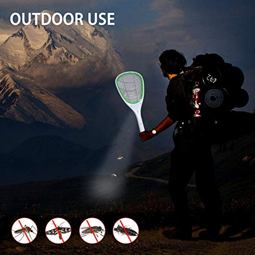 Tlanpu Bug Zapper-Rechargeable Electric Mosquito Swatter,Fly Killer Bug Zapper Racket,3000Volt,Super-Bright LED Light to Zap in The Dark,Unique 3-Layer Safety Mesh by Tlanpu (Image #6)