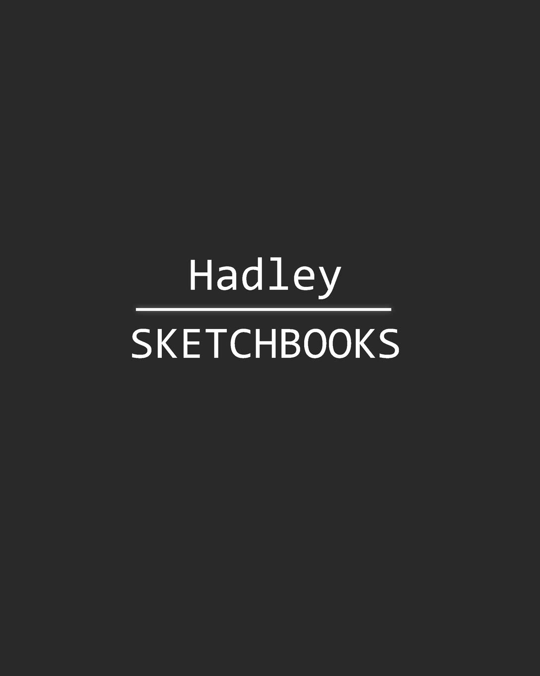 Hadley sketchbook 140 blank sheet 8x10 inches for write