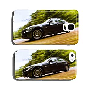 Side view of luxury sedan. cell phone cover case Samsung S6