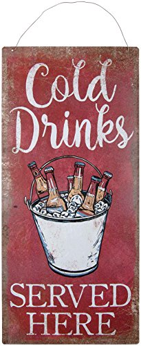 (Carson Tin Cold Drinks Outdoor Signage Home Decor)