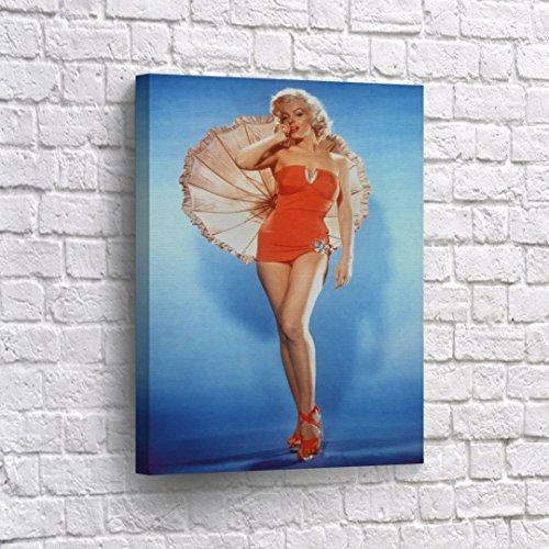 Buy4Wall Marilyn Monroe Wall Art Canvas Print with Umbrella