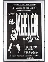 The Christine Keeler Affair (1963) Original U.S. One-Sheet Movie Poster 27x41 SEXPLOITATION film directed by ROBERT B. SPAFFORD