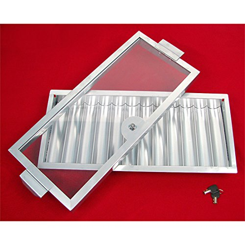Metal 12-Row Casino Poker Table Chip Tray with Locking Cover by Da Vinci
