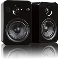 Kanto YUMI Premium Powered Bookshelf Speakers with Wireless Bluetooth 4.0 aptX Technology – Gloss Black