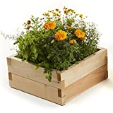 Naturalyards Raised Garden Bed, Square (Rustic Cedar, 2'x2'x11'')