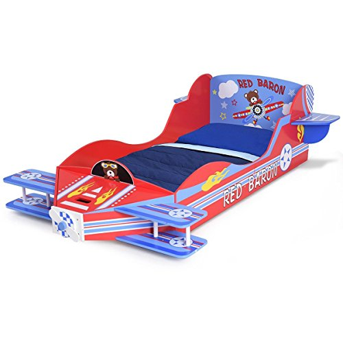 Colorful Kids Airplane Toddler Bed Furniture - By Choice Products by By Choice Products