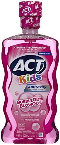 Rinse Bubble Gum - ACT Anti-Cavity Rinse, Bubblegum Blowout - 16.9 oz