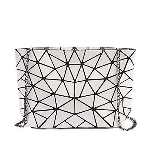 Famous Women Bag Geometric Handbags Plaid Chain Shoulder Crossbody Bags Laser Diamond Bag 1