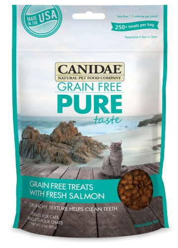 CANIDAE Grain Free PURE Taste Cat Treats with Fresh Salmon, 3 oz