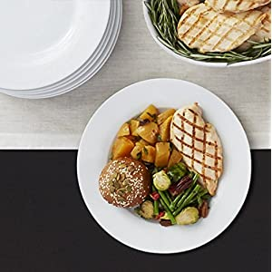 AmazonBasics 6-Piece White Dinner Plate Set