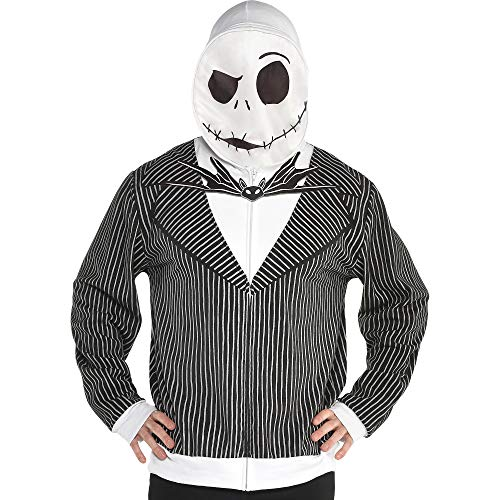 Party City The Nightmare Before Christmas Jack Skellington Hoodie for Men, Large/Extra Large -