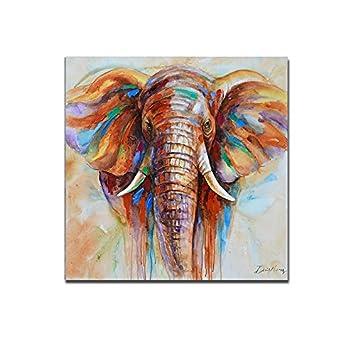 tableau lphant haut en couleur peinture lhuile sur - Cadre Elephant