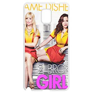 2 Broke Girls SamSung Galaxy Note4 White Phone Case Christmas Gifts&Gift Attractive Phone Case KHUAA523781