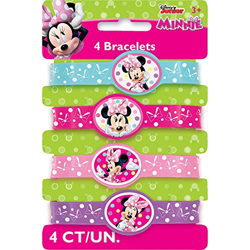 Minnie Mouse Silicone Wristband Party Favors, 4ct (Minnie Mouse Ideas)