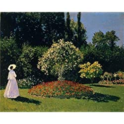 High Quality Polyster Canvas ,the Beautiful Art Decorative Canvas Prints Of Oil Painting 'Jeanne-Marguerite Lecadre In The Garden 1866 By Claude Monet', 20x25 Inch / 51x63 Cm Is Best For Nursery Decoration And Home Decor And Gifts