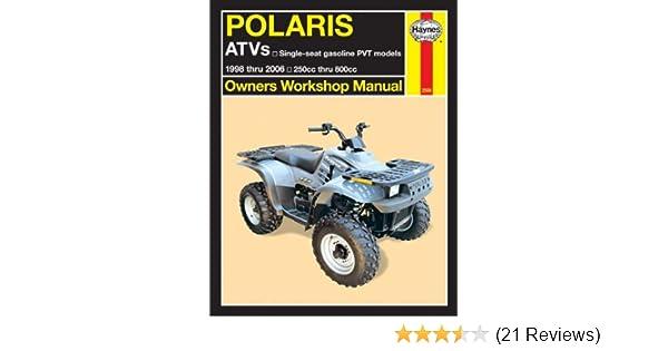 polaris atv 250cc thru 800cc 1998 thru 2006 owners workshop manual rh amazon com 2006 polaris hawkeye 300 4x4 service manual 2006 polaris hawkeye 300 4x4 repair manual