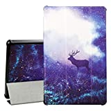 """PC Hardware : F i r e HD 10 Tablet Case (7th Generation, 2017 Release) - Auorld Premium PU Leather Slim Fit Smart Stand Cover with Auto Wake/Sleep for HD 10.1"""" Tablet, Fantasy Sky"""