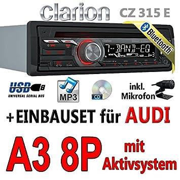 Audi A3 8P Concert - Clarion CZ315E - Bluetooth Autoradio