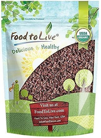 Semillas de cacao Orgánico, 4 Libras - Eco, Ecológico, sin azúcar, sin OGM, kosher, crudo, vegano, a granel