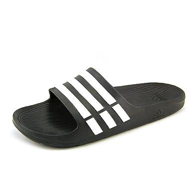 10ca0f82047f Adidas Duramo Slide Sandal Black white black (Men) - 11