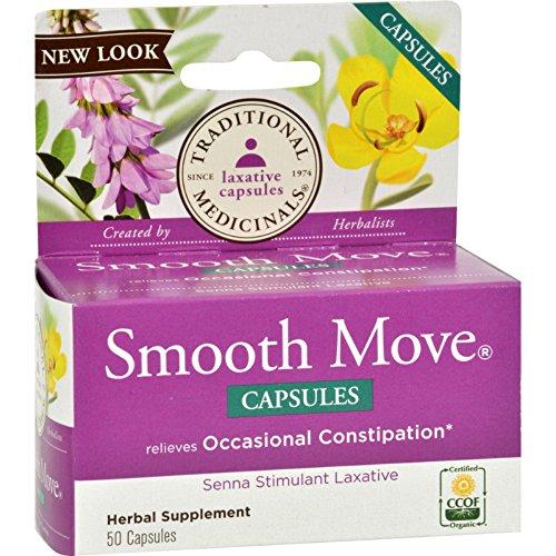 Traditional Medicinals Smooth Move Senna - 50 Capsules Smooth Move Laxative