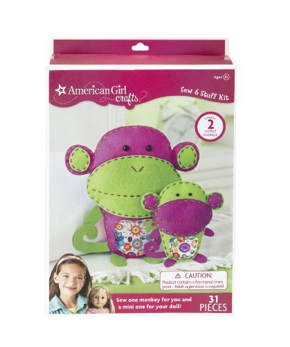 American Girl Crafts Monkeys Sew and Stuff Kit, Model: 30-677388, Toys & Play