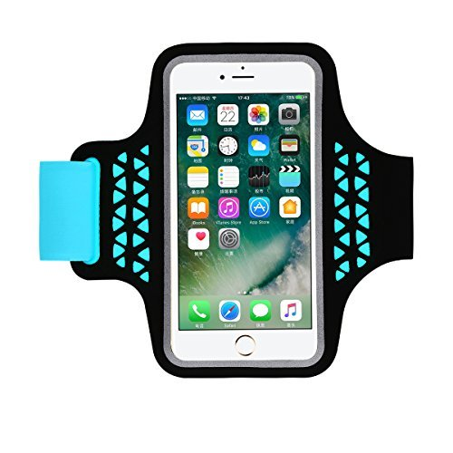HAISSKY iPhone 8 Plus Armband, Sports Running Armbands for iPhone 6 Plus 6S Plus Samsung Galaxy Note 3 4 5 S7 Edge S6 Edge Plus 5.2-5.7 Inch Arm Band for Men/Women(Blue)