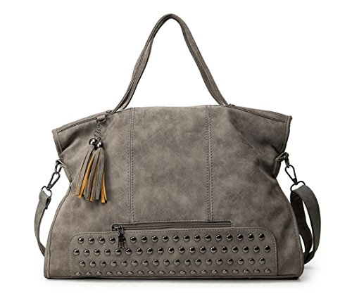 Gray Hobo Handbag - 8