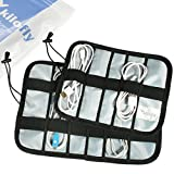 kilofly Universal Cable Organizer Bag Travel Case (Pack of 2), Small & Large