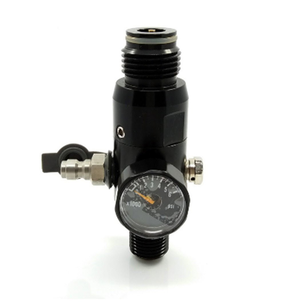 Paintball 4500psi Regulator HPA High Compressed Air Tank Valve Output 1800psi 5/8''-18UNF Threads in Tank by Loader
