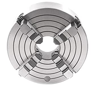 """HHIP 3900-0413 4-Jaw Chuck - Independent Plain Back With 4 Mounting Holes, 3"""""""