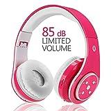 Kids Wireless Headphones,Votones Volume Limiting Adjustable Bluetooth Headphones for Children,Lightweight Fold-able Over Ear
