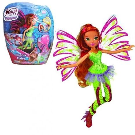 Winx Club Sirenix Fairy Flora Bambola 28cm Amazon It Giochi E