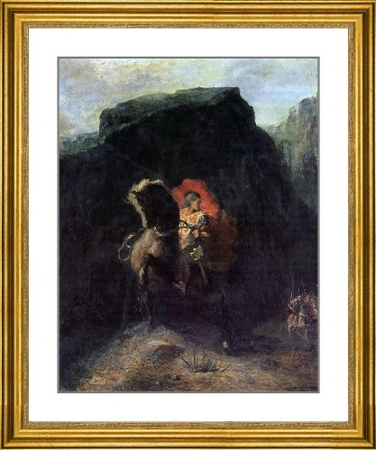 """Odilon Redon Roland at Roncevaux - 23.5"""" x 27.5"""" Matted Framed Premium Archival Print"""
