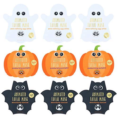 Spa Life Animated Halloween Sheet Mask Pumpkin, Ghost, Bat Bundle