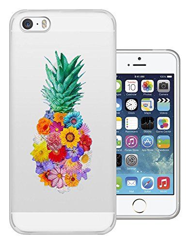 C0414 - Cool Fun Trendy Cute Kawaii Pineapple Fruit Holiday Tropical Vegetable Design iphone SE - 2016 Fashion Trend Protecteur Coque Gel Rubber Silicone protection Case Coque