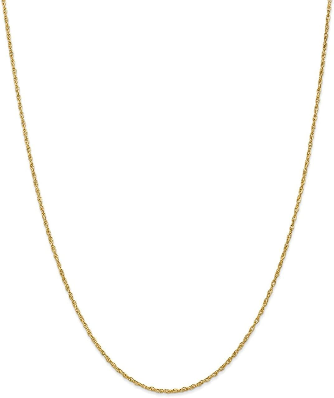 Lex /& Lu Leslies 14k Yellow Gold Pendant Rope Chain Necklace LAL92188