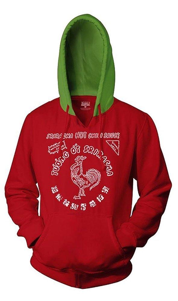 Sriracha Label Pull Over Kapuzen-Sweatshirt