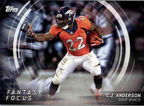 2015 Topps Fantasy Focus #FFCA C.J. Anderson - Denver Broncos (NFL Football Card)