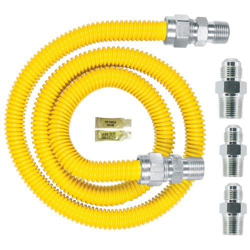 (Dormont 0240892 Gas ApplianceConnectorKit, 48 In. Long 5/8 In. Outlet Diameter, Yellow Coated)