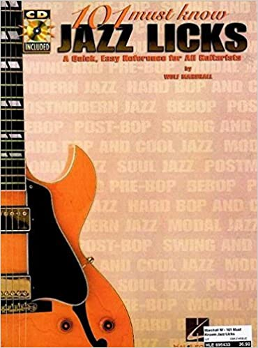 Book 101 Must-Know Jazz Licks: A Quick, Easy Reference for All Guitarists by Wolf Marshall (2000-07-01)