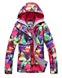 Sports Technology Best Deals - APTRO Women's High Windproof Technology Colorfull Printed Ski Jacket Style #12 Size XS