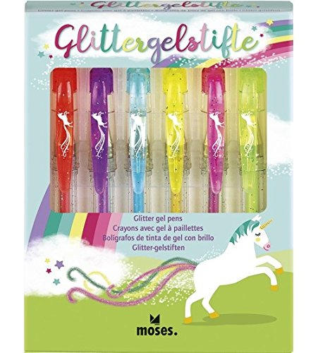 Moses. 26111 Unicorn Glitter Gel Pens Gel Pen with Glitter for Writing and Decorating moses. Verlag GmbH
