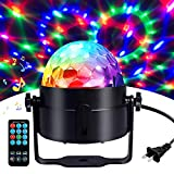 Disco Ball Disco Lights-COIDEA Party Lights Sound Activated Storbe Light With Remote Control DJ Lighting,Led 3W RGB Light Bal, Dance lightshow for Home Room Parties Kids Birthday Wedding Show Club Pub: more info