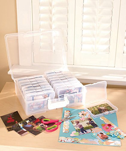 "IRIS Extra Large 4"" x 6"" Photo and Craft Storage Case, Clear"
