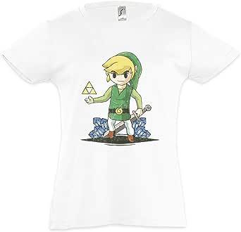 Urban Backwoods Link Diamonds Camiseta para Niñas Chicas niños T-Shirt